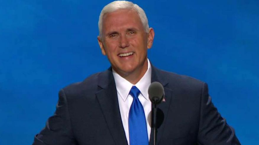 Pence rallies crowd behind Trump, takes on Clinton