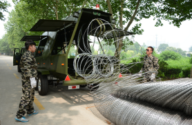 Mobile Security Razor Wire Barrier