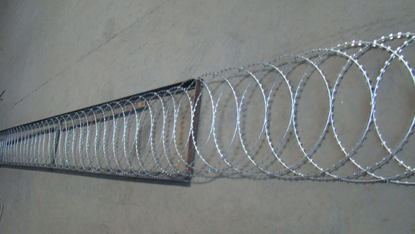 Flat Wrapped Razor Wire Give You Enough Sense Of Safety